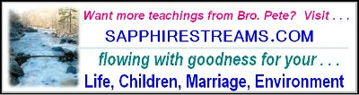 Want more of Brother Pete's teaching? Visit  sapphirestreams.com